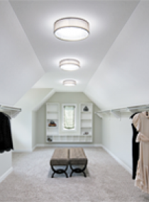 Closet with Smart LED and VividShade Fixtures
